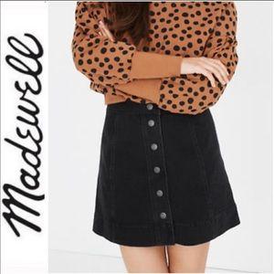Madewell snap skirt
